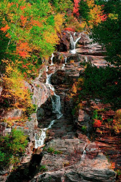 New Hampshire Photograph - Silver Cascades In The White Mountains by Myloupe/uig