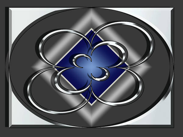 Digital Art - Silver Design 11 by Chuck Staley