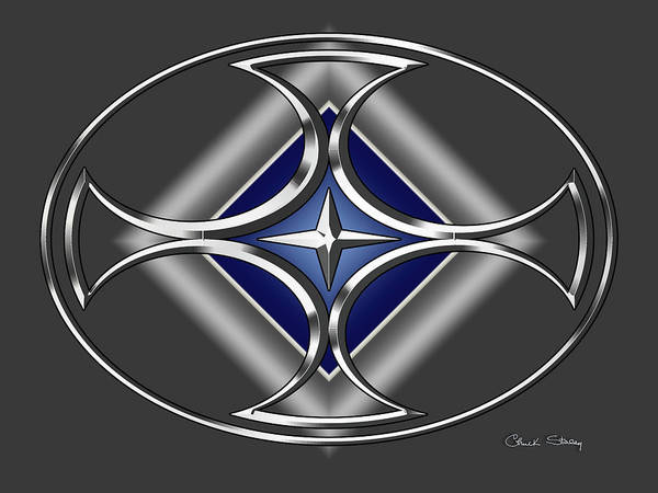Digital Art - Silver Design 17 by Chuck Staley