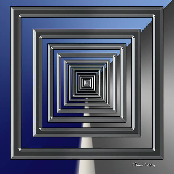 Digital Art - Silver Design 7 by Chuck Staley