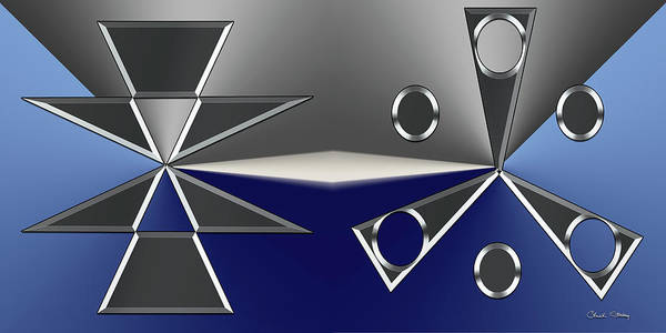 Digital Art - Silver Designs 2 And 3 by Chuck Staley