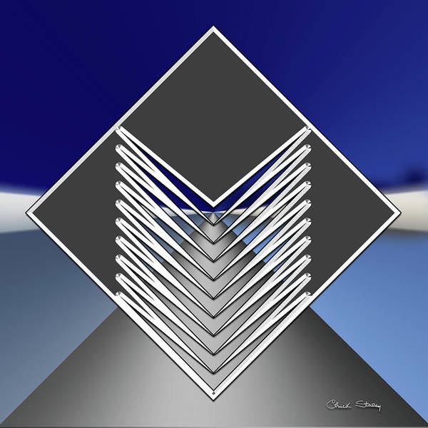 Digital Art - Silver Road 2 by Chuck Staley
