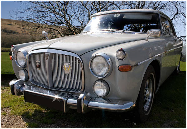 Digital Art - Silver Rover P5b 3.5 Ltr by Peter Leech