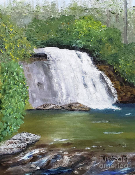 Painting - Silver Run Falls by Stanton Allaben