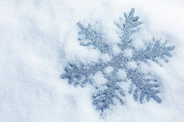 Fake Photograph - Silver Snowflake by Neoblues