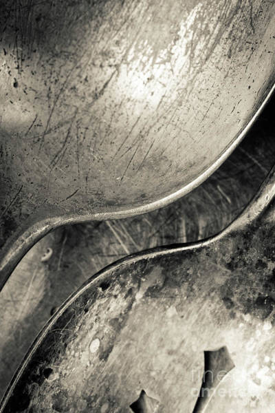 Photograph - Silver Spoons Abstract by Edward Fielding