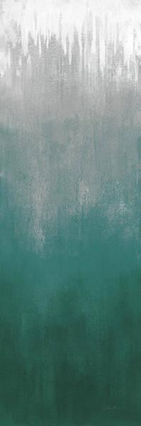 Wall Art - Painting - Silver Wave I Green by Silvia Vassileva