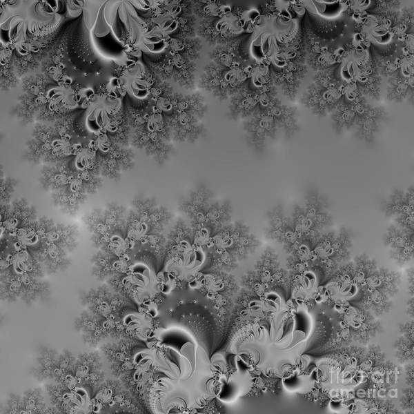 Digital Art - Silvery Moon Frost Fractal Abstract by Rose Santuci-Sofranko