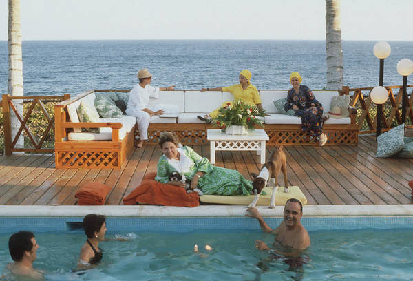 Dominican Republic Photograph - Silvie Rossels Place by Slim Aarons