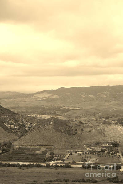 Photograph - Simi Valley In Sepia View From The Reagan Library by Colleen Cornelius