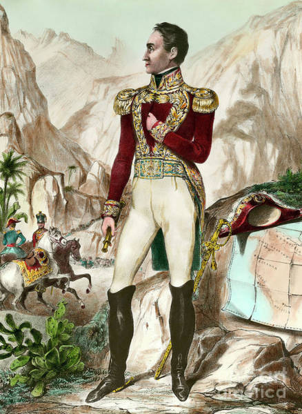 Wall Art - Painting - Simon Bolivar 1783-1830 by European School