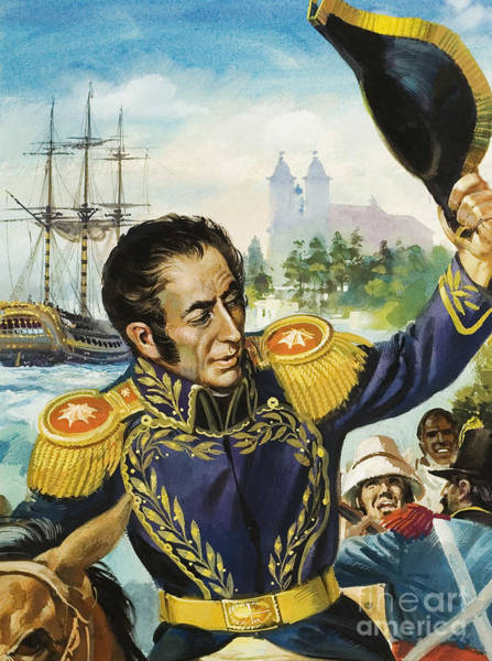 Wall Art - Painting - Simon Bolivar by Andrew Howat