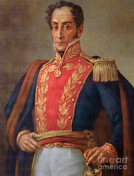 Wall Art - Painting - Simon Bolivar, Chromolitho by French School