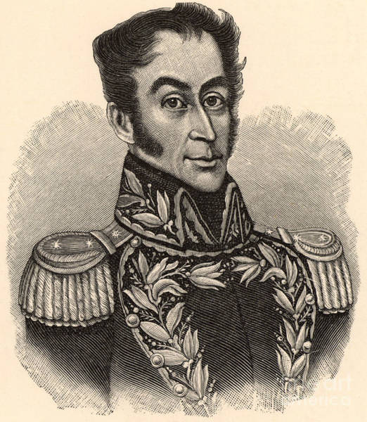 Trinidad Drawing - Simon Bolivar, The Liberator  Engraving by European School