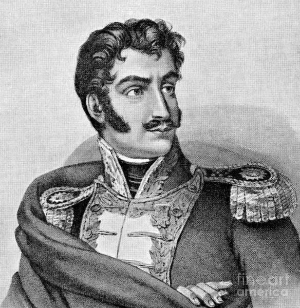 Trinidad Drawing - Simon Jose Antonio De La Santisima Trinidad Bolivar Y Palacios by European School