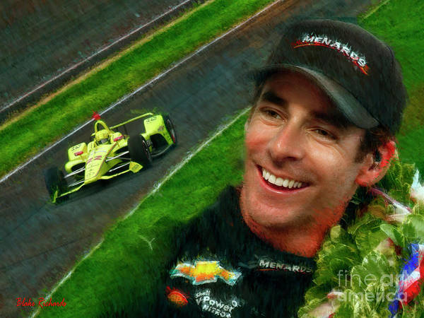 Photograph - Simon Pagenaud Penske Chevy 2019 Indy 500 Winner by Blake Richards