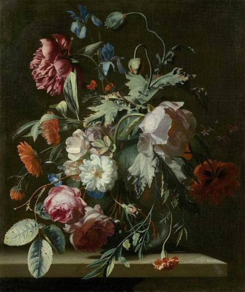 Wall Art - Painting - Simon Pietersz Verelst 1633-1721, Floral Still Life by Simon Pietersz Verelst