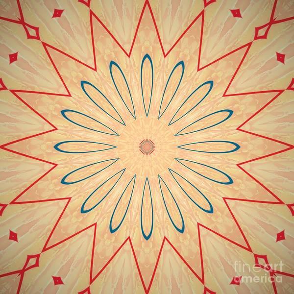 Digital Art - Simple Flower Mandala by Sheila Wenzel