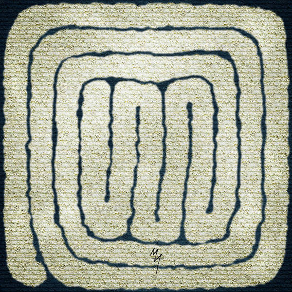 Painting - Simple Labyrinth by Attila Meszlenyi