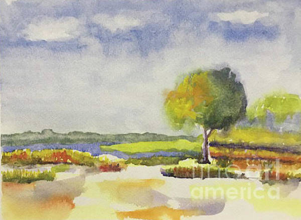 Painting - Simple Landscape by Linda Anderson