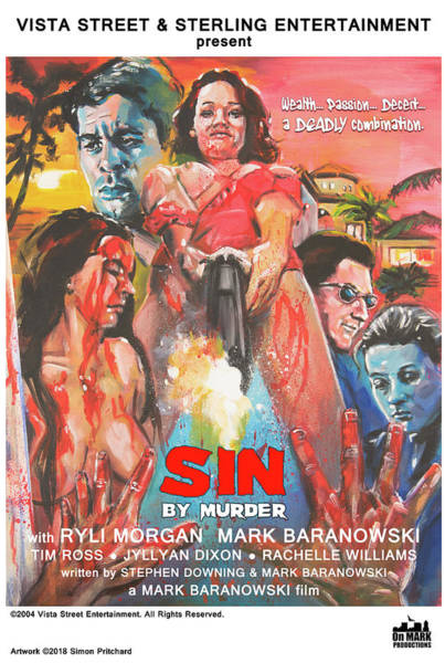 Digital Art - Sin By Murder Poster C by Mark Baranowski