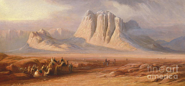 Wall Art - Painting - Sinai by Edward Lear
