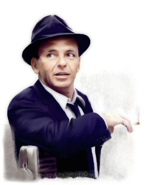New Age Wall Art - Painting - Frank Sinatra Sinatra by Iconic Images Art Gallery David Pucciarelli