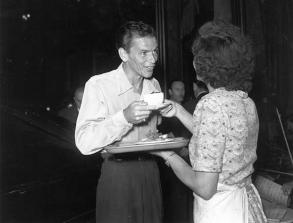 Photograph - Sinatra In London by Express Newspapers
