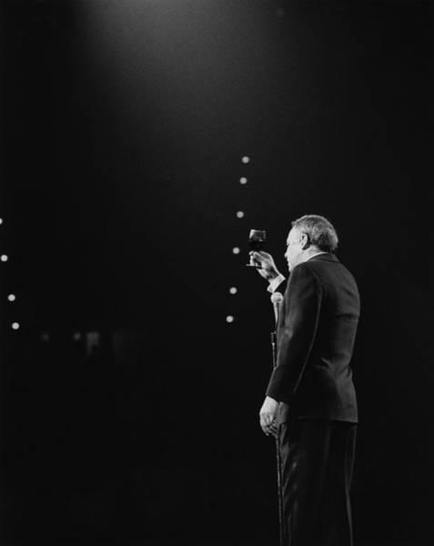Photograph - Sinatra On Stage by David Redfern