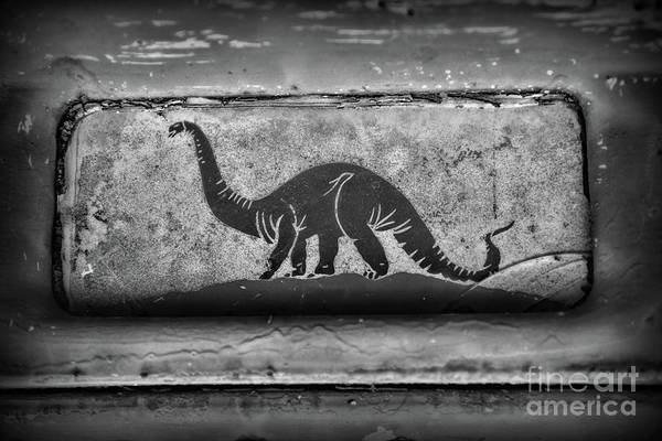 Wall Art - Photograph - Sinclair Gas Dino The Dinosaur Black And White by Paul Ward