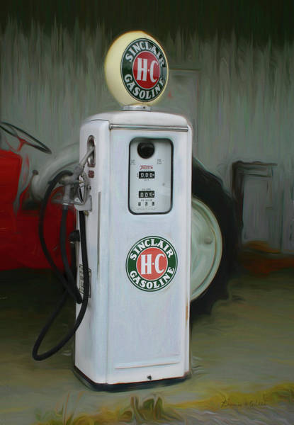 Digital Art - Sinclair Gas Pump  by Bonnie Willis