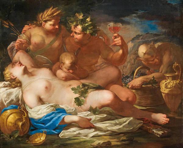Painting - Sine Cerere Et Baccho Friget Venus by Federico Cervelli