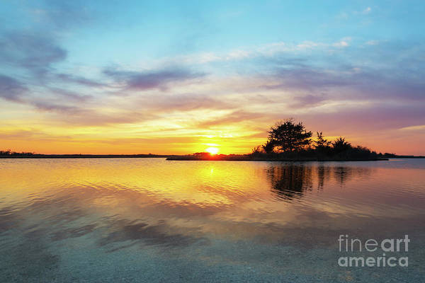 Wall Art - Photograph - Sinepuxent Basy Sunset  by Michael Ver Sprill