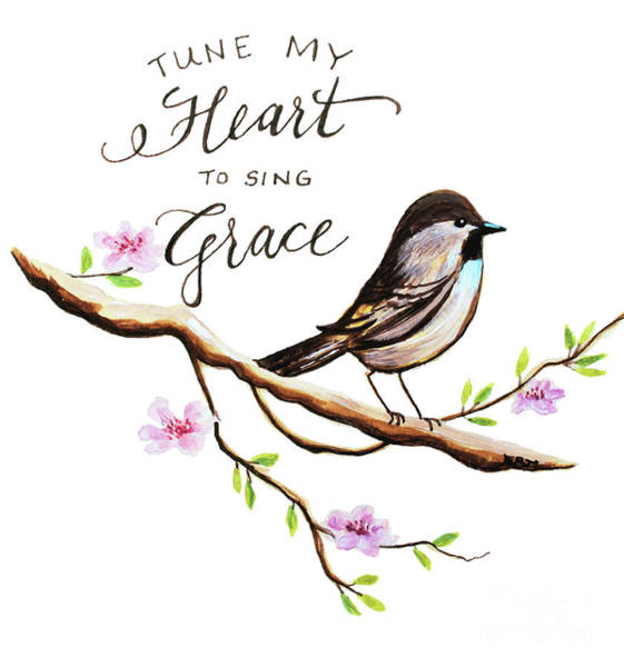 Garden Painting - Sing Grace by Elizabeth Robinette Tyndall