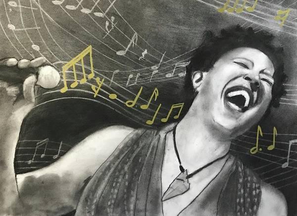 Drawing - Sing It Lisa  by Nadija Armusik