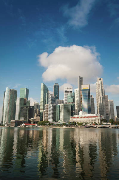 Quayside Photograph - Singapore Central Business District by Fotovoyager