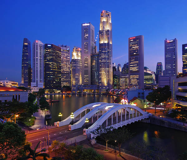 Elgin Photograph - Singapore City Skyline by Cheoh Wee Keat