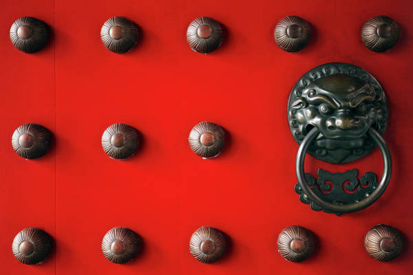 Doorknob Photograph - Singapore, Door Of The Buddha Tooth by Slow Images
