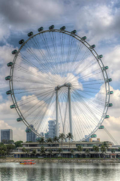 Wall Art - Photograph - Singapore Ferris Wheel by David Pyatt