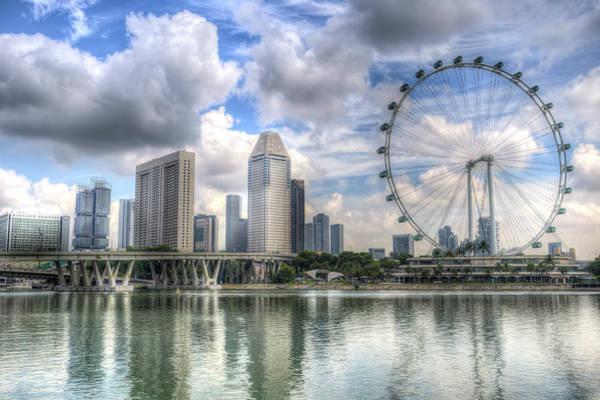 Wall Art - Photograph - Singapore Flyer Ferris Wheel by David Pyatt