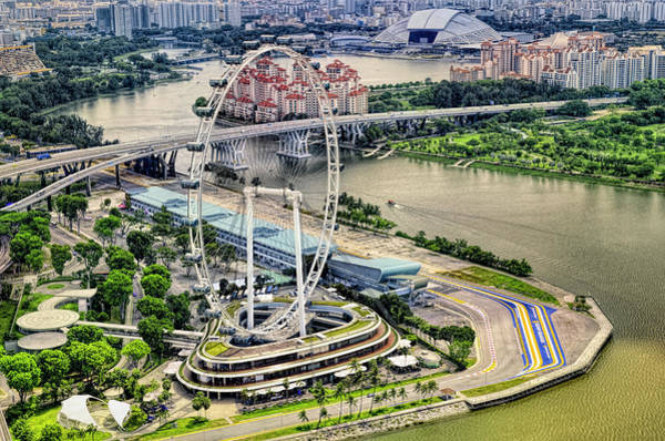 Wall Art - Photograph - Singapore Flyer by Paul Coco