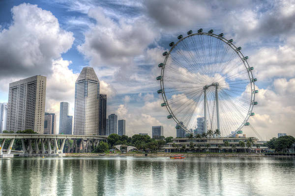 Wall Art - Photograph - Singapore Flyer Wheel by David Pyatt