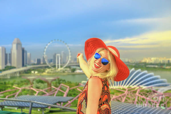 Photograph - Singapore Girl Panorama by Benny Marty