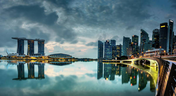 Photograph - Singapore Lighst by Chris Cousins