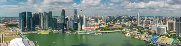 Quayside Photograph - Singapore Marina Bay Cbd Aerial by Fotovoyager