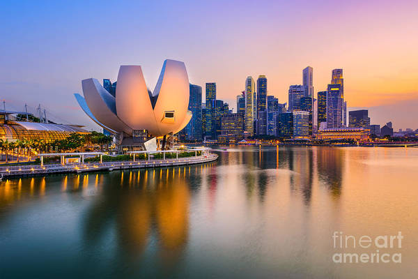 Wall Art - Photograph - Singapore Skyline At The Marina During by Sean Pavone