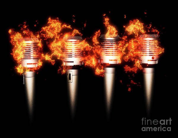 Microphone Photograph - Singeing Stage Show by Jorgo Photography - Wall Art Gallery