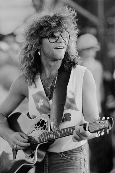 Photograph - Singer Jon Bon Jovi Performs At Farm by George Rose