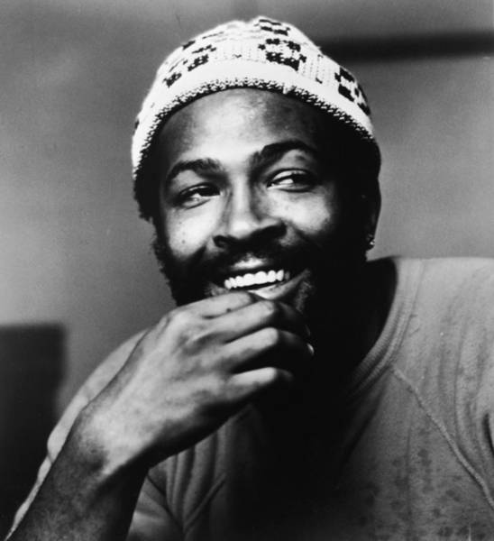 Wall Art - Photograph - Singer Marvin Gaye In Knit Cap by Pictorial Parade