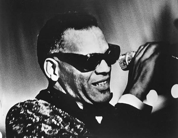 Microphone Photograph - Singer Ray Charles by Afro Newspaper/gado